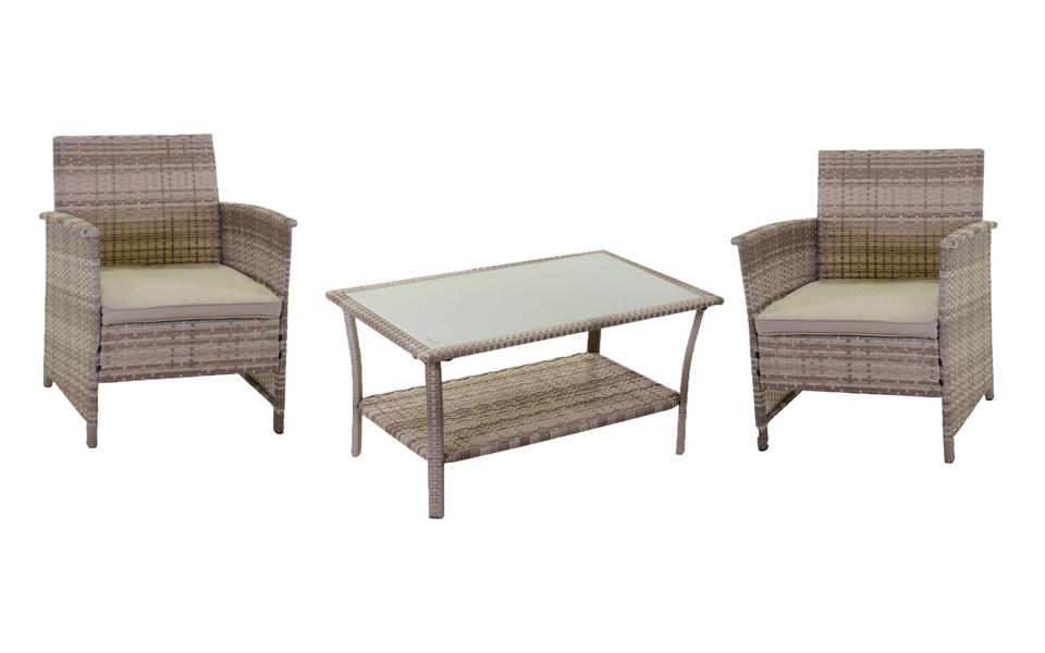 Poltrone E Tavoli In Vimini.Combinazione Salotto Detroit Poltrone E Tavolino Ferrini Gift