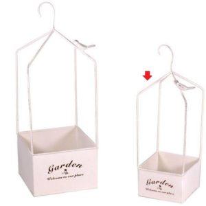 Portavaso Bianco In Metallo Pensile Linea Le Jardinier Piccolo
