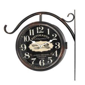 Orologio Tondo In Metallo Con Staffa