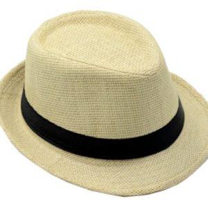 Cappello Semplice In Paglia Con Fascia Nera