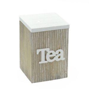 Scatola Tea Quadrata In Legno Linea Ermes