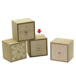 Cubo Portatutto In Legno Linea Iride