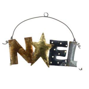 Scritta Decorativa Natalizia In Metallo