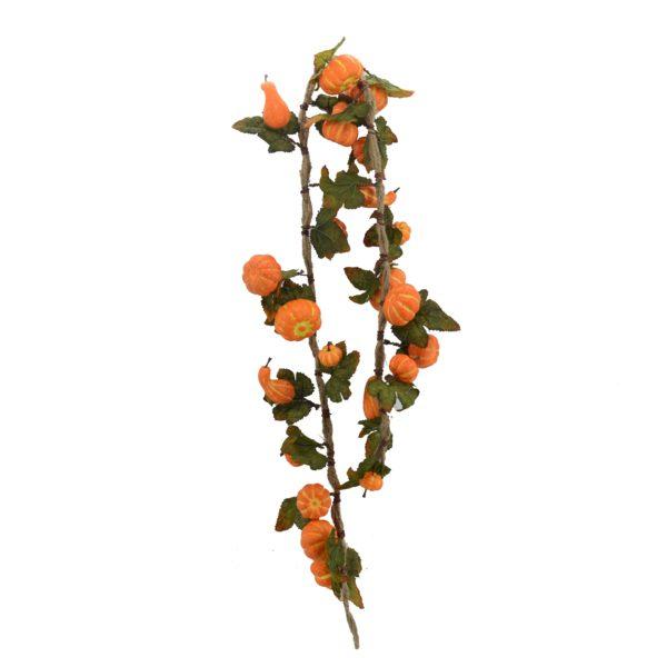 Festone Tipologia Verdura Artificiale Con Zucche Arancioni