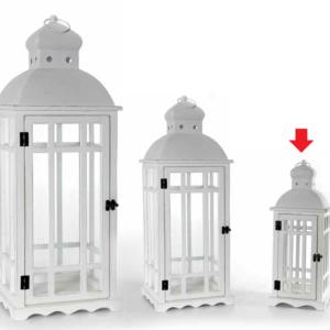 Lanterna Bianca In Legno E Metallo Linea Garden Piccola