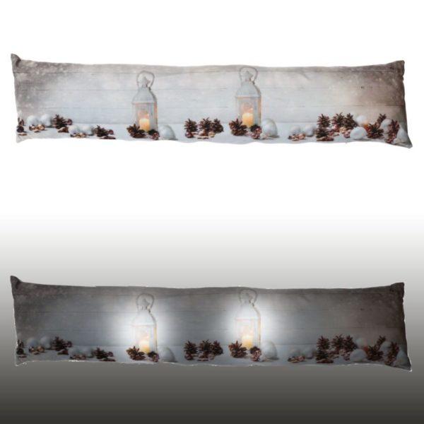 Paraspifferi In Tessuto Con LED Fantasia Lanterne Bianche