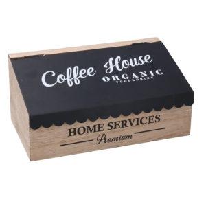 Scatola In Legno Con Coperchio Linea Coffee House