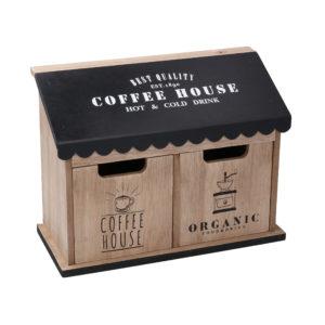 Portatutto In Legno Con 2 Cassetti Rettangolare Linea Coffee House