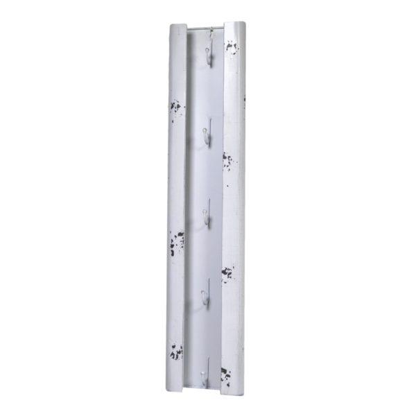 Portachiavi Bianco In Metallo Linea Bristol 5 Posti
