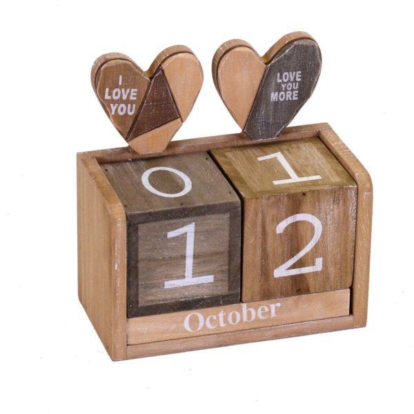 Calendario In Legno Modello Patch