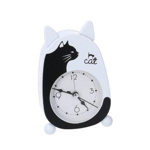 Orologio Sveglia Da Tavolo In Metallo Gatto