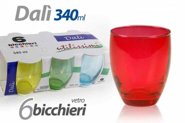 Set 6 Bicchieri Colorati Linea Dalì