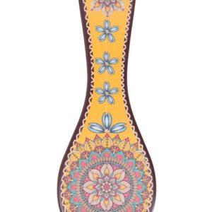 Mattonella Poggiapentole In Ceramica Multicolr Con Fantasie