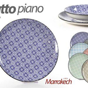 Set 6 Piatti Piani In Ceramica Linea Marrakech