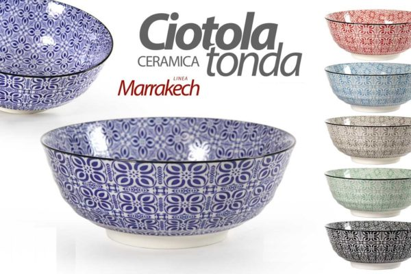 Set 3 Ciotole In Ceramica Linea Marrakech