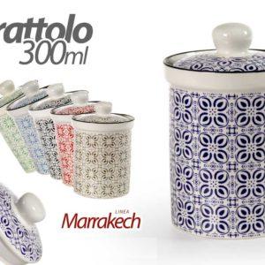 Set 3 Barattoli In Ceramica Linea Marrakesh 300ml