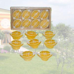 Set 3 Confezioni Da 8 Pezzi Candele Alla Citronella Forma Limone