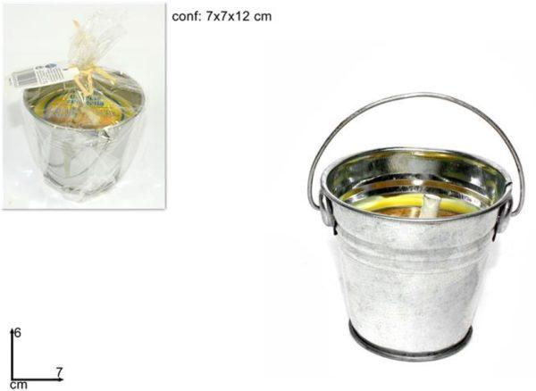Set 4 Secchielli Piccoli In Metallo Alla Citronella