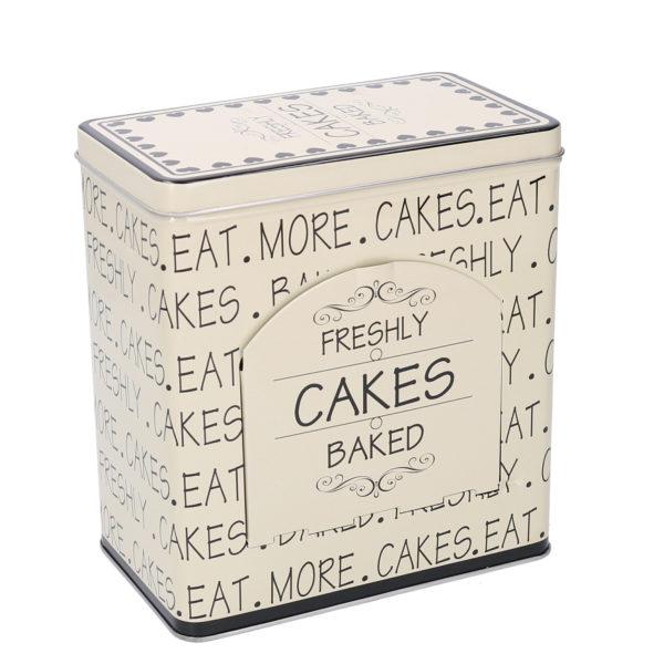 Set 2 Scatole Metallo Bianco Rettangolare Linea Cakes