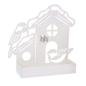 Portazampirone In Metallo Bianco Forma Casa