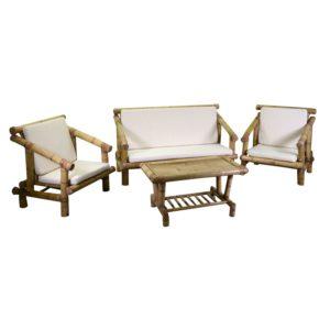 Salotto In Bambù Linea Macao Con Cuscini
