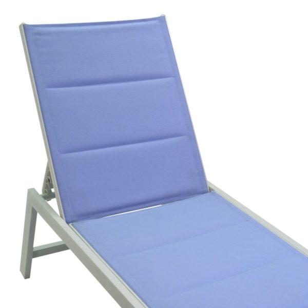 Lettino In Alluminio E Textilene Linea Ontario Azzurro