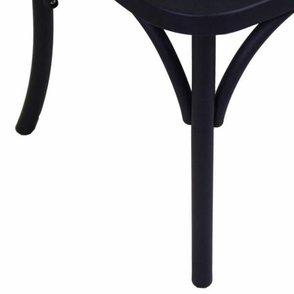 Sedia In Plastica Modello Cross Colore Nero