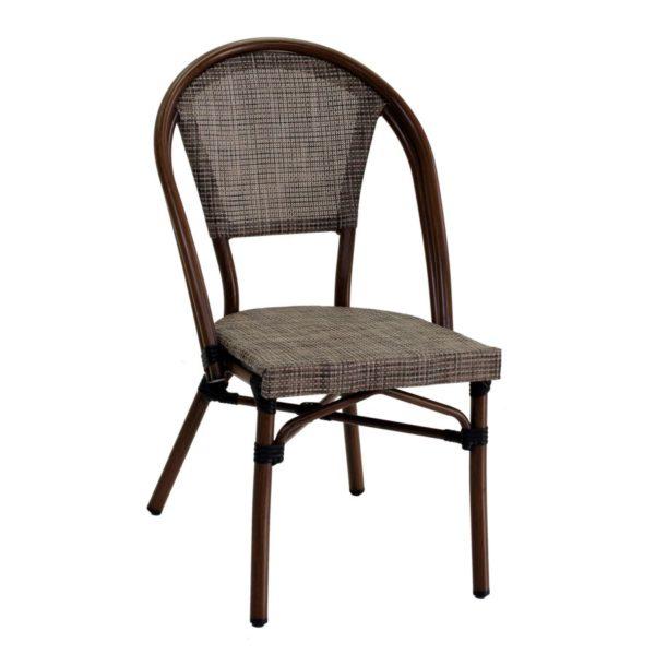 Sedia In Alluminio Textilene Modello Savannah Color Noce
