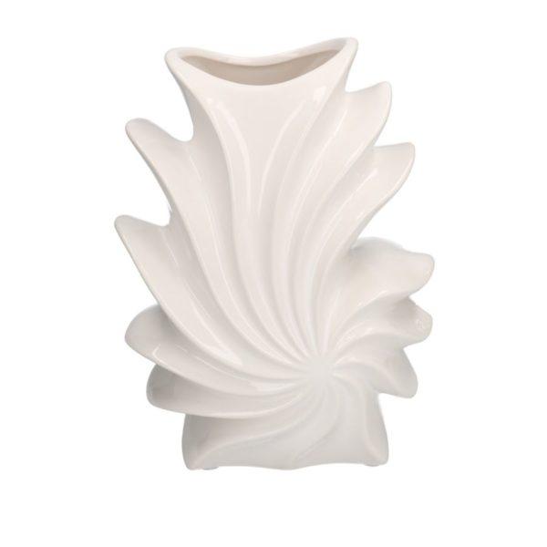 Vaso Mare In Ceramica Colore Bianco Conchiglia