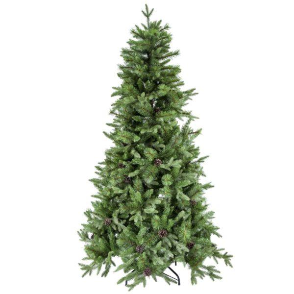 Albero Natale Con Pigne Modello Sinai Altezza 210 cm