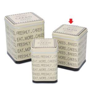 Scatola Quadra In Metallo Linea Cakes Media