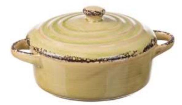 Set 3 Casseruole In Ceramica Con Coperchio Linea Susy