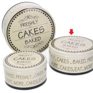 Scatola Tonda In Metallo Linea Cakes Media