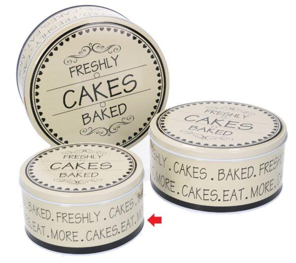 Scatola Tonda In Metallo Linea Cakes Piccola