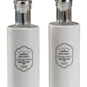 Menage In Vetro E Metallo Per Olio E Aceto