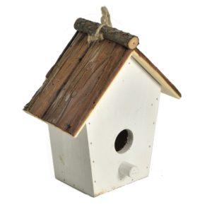 Casetta Bianca In Legno Per Uccelli