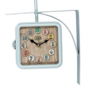 Orologio Con Staffa In Metallo Modello Quadrato