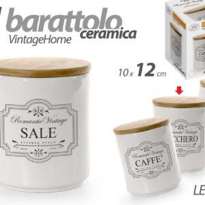 Barattolo In Ceramica vintage Home Con Tappo
