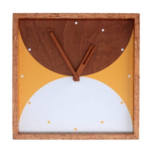 Orologio Quadrato In Legno Fantasia Cerchi