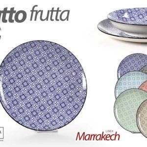 Set 6 Piatti Frutta In Ceramica Linea Marrakech