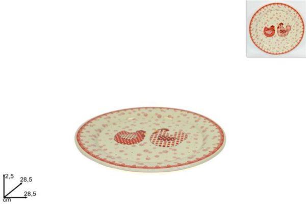 Piatto In Ceramica Rotondo Con Decorazione