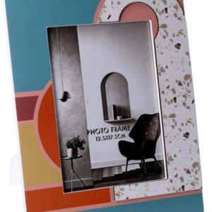 Portafoto Rettangolare Grande In Legno Fantasia Multicolor