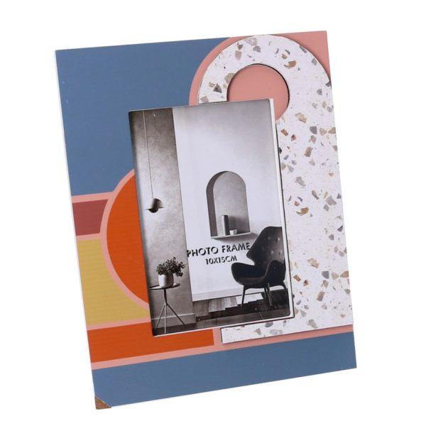 Portafoto Rettangolare Piccolo In Legno Fantasia Multicolor