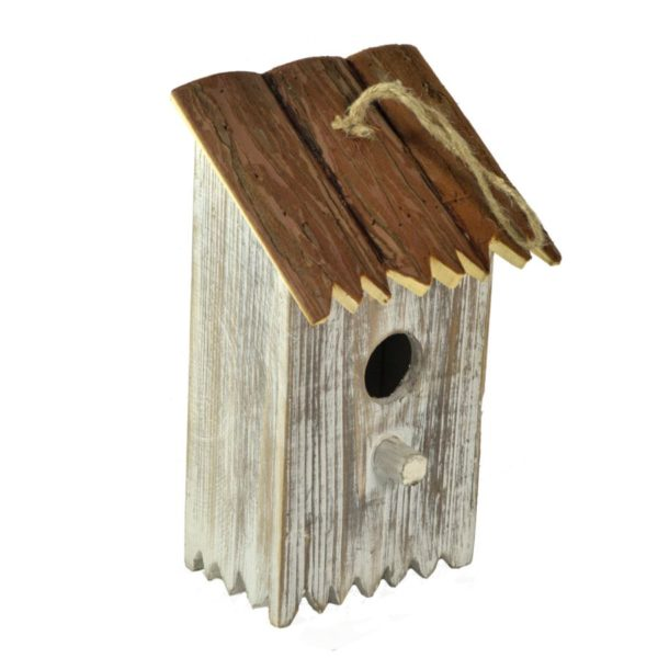 Casetta Per Uccelli Rettangolare Sbiancata