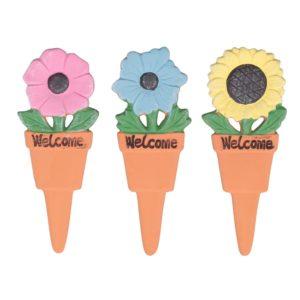 Decorazione Fiore Welcome In Terracotta