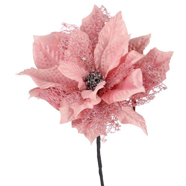 Fiore Stella Di Natale Rosa Scuro