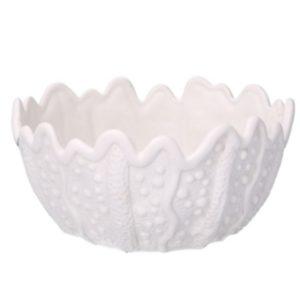 Svuotatasche In Ceramica Linea Mare Bianco Rotondo
