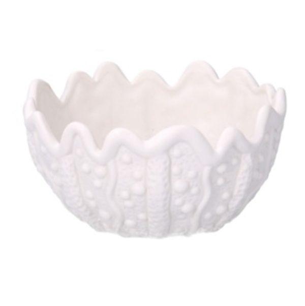 Svuotatasche ceramica mare bianco tondo