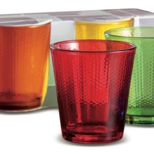 Set 6 Bicchieri In Vetro Colorato Modello Luis
